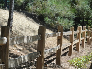 Cedar Split Rail Fence in Northern California